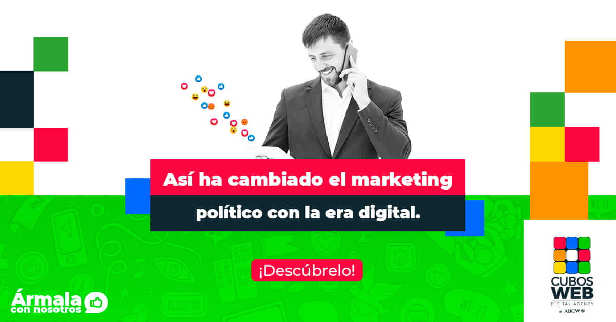 Candidato electoral, implementa una estrategia con una Agencia de marketing Politico
